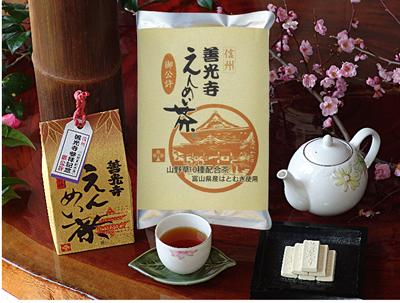 善光寺えんめい茶 (ティーバック、リーフタイプ、ペットボトル)